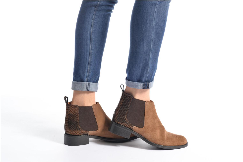 Bottines et boots Georgia Rose Celadon Bordeaux vue bas / vue portée sac