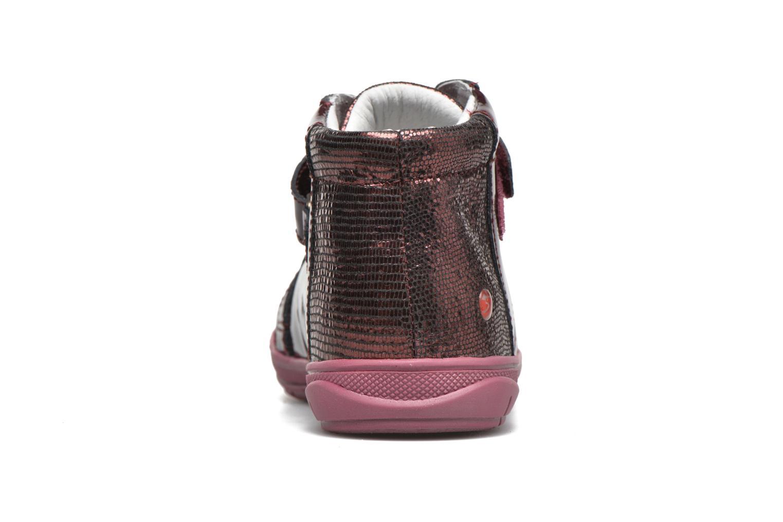 Baskets GBB Nicoleta Rouge vue droite