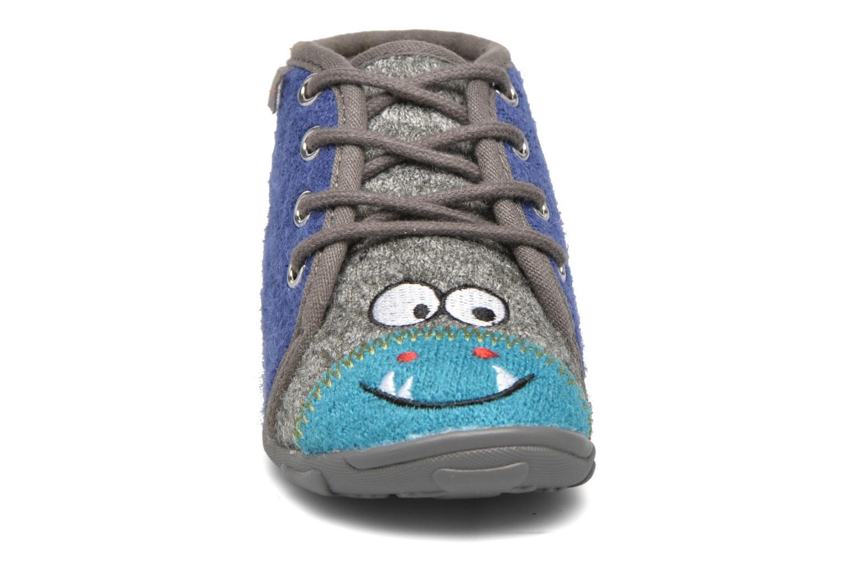 Chaussons GBB Namazio Bleu vue portées chaussures