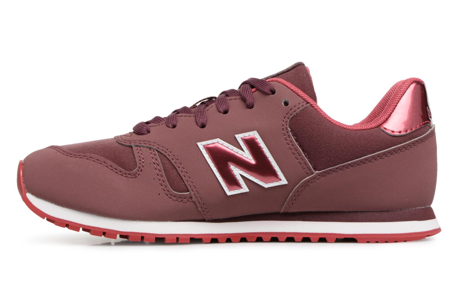 Sneakers New Balance KJ373 J Bordeaux voorkant