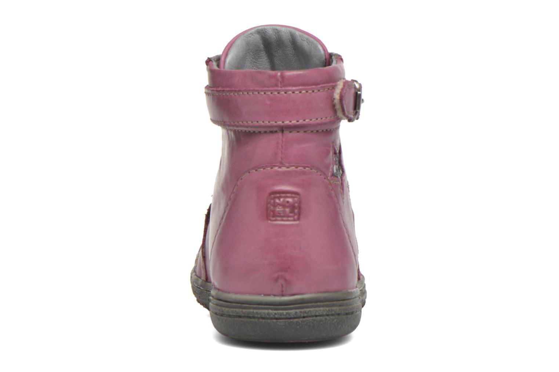 Bottines et boots Noël Pam Rouge vue droite