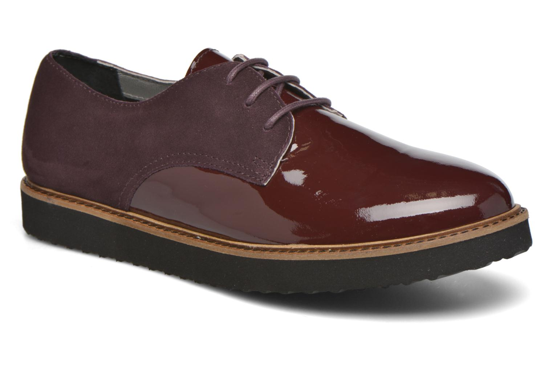 Chaussures à lacets Ippon Vintage James smart Bordeaux vue détail/paire