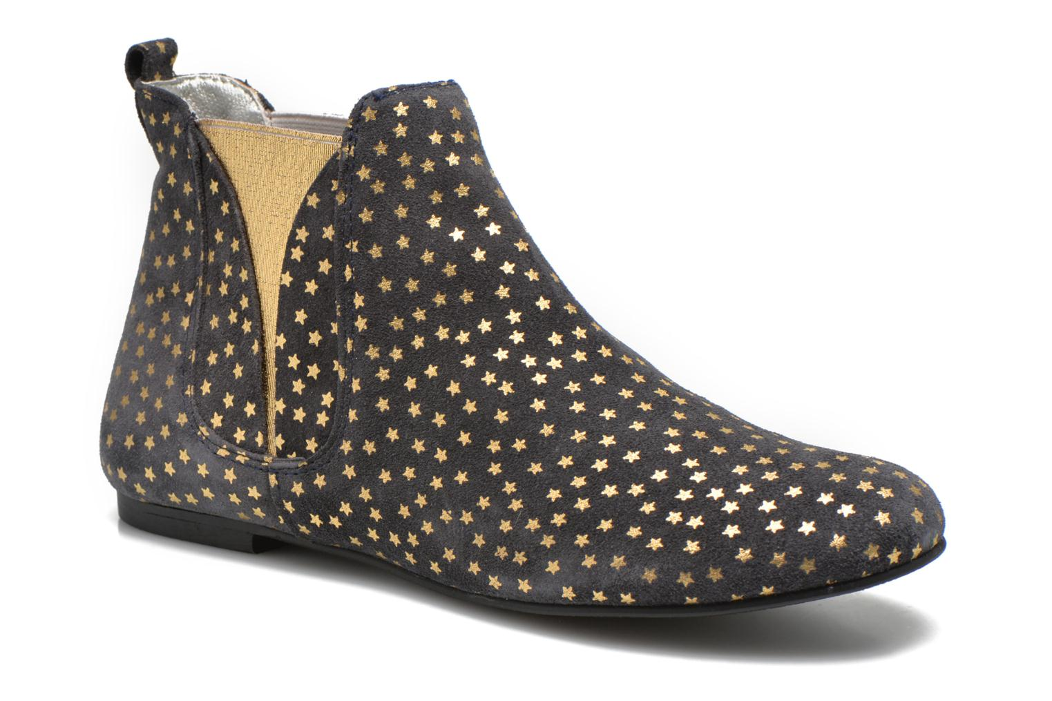 Ankle boots Ippon Vintage Patch gold Blue detailed view/ Pair view