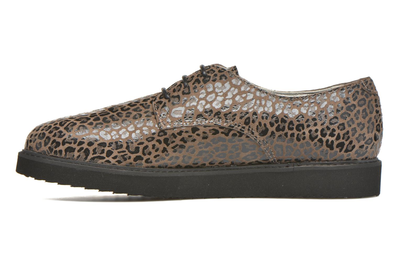 Chaussures à lacets Ippon Vintage James Léo Marron vue face