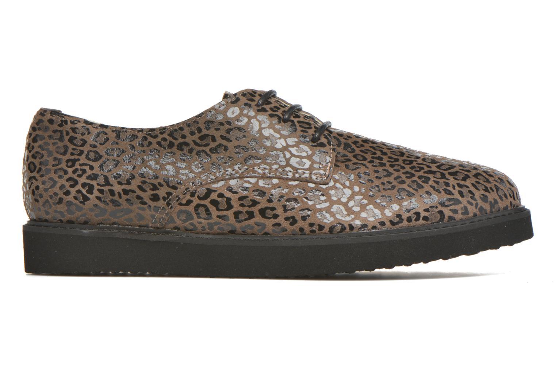 Chaussures à lacets Ippon Vintage James Léo Marron vue derrière