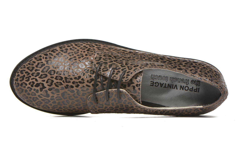 Chaussures à lacets Ippon Vintage James Léo Marron vue gauche