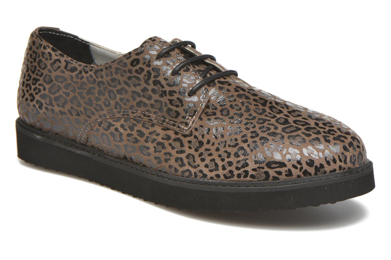 Chaussures à lacets Ippon Vintage James Léo Marron vue détail/paire