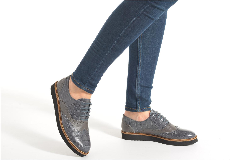 Chaussures à lacets Ippon Vintage Andy croco Gris vue bas / vue portée sac