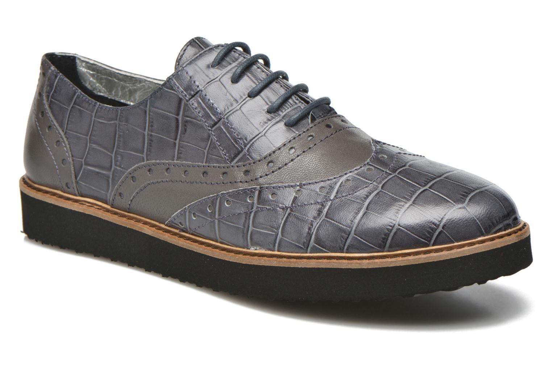 Chaussures à lacets Ippon Vintage Andy croco Gris vue détail/paire