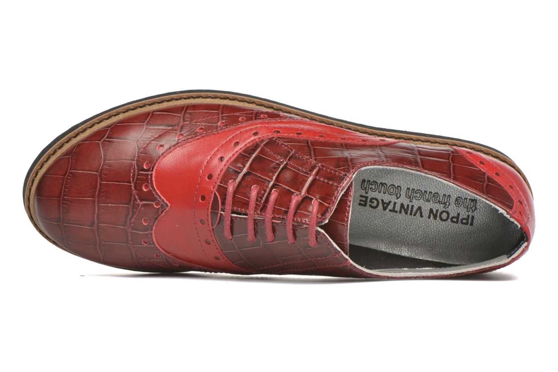 Chaussures à lacets Ippon Vintage Andy croco Rouge vue gauche