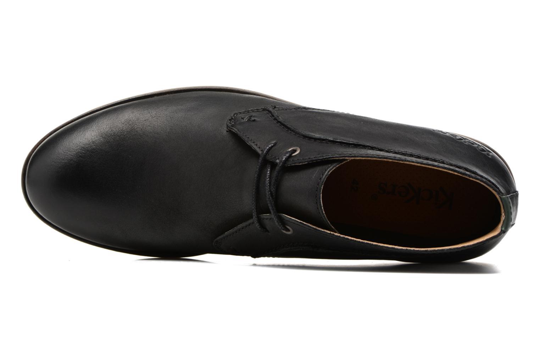 Chaussures à lacets Kickers Flaval Noir vue gauche