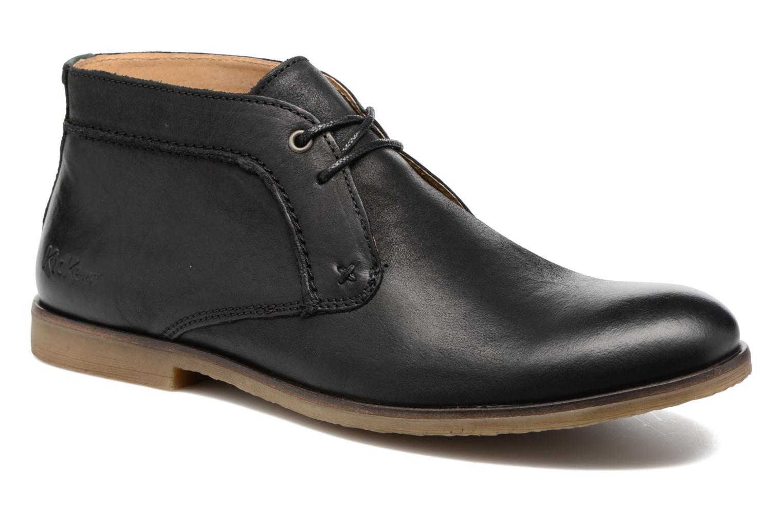 Chaussures à lacets Kickers Flaval Noir vue détail/paire
