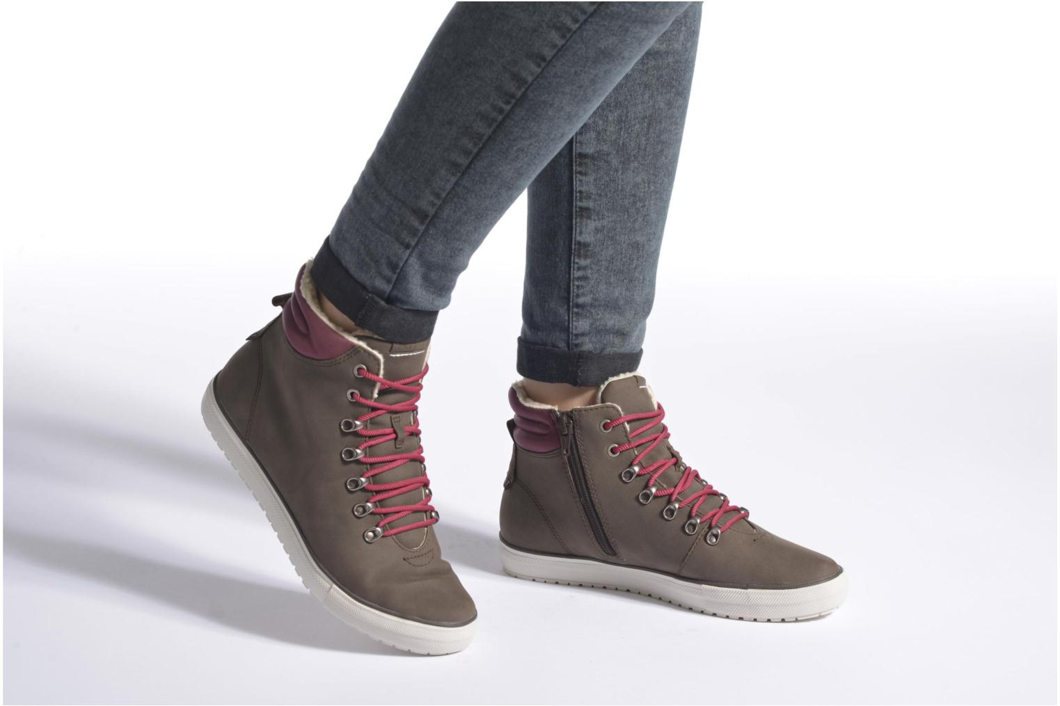 Trainers Esprit Mika Bootie Brown view from underneath / model view