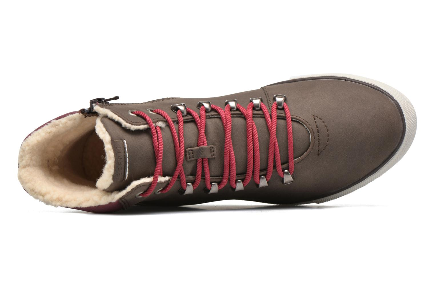 Trainers Esprit Mika Bootie Brown view from the left