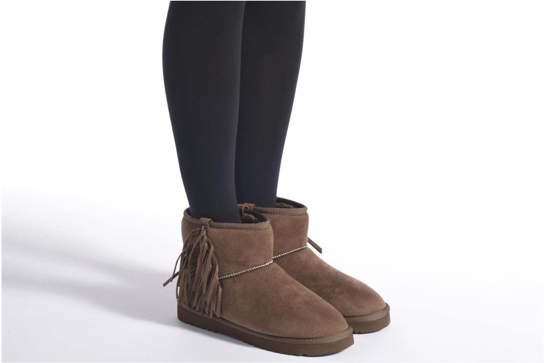 Bottines et boots Esprit Uma Fringes Marron vue bas / vue portée sac