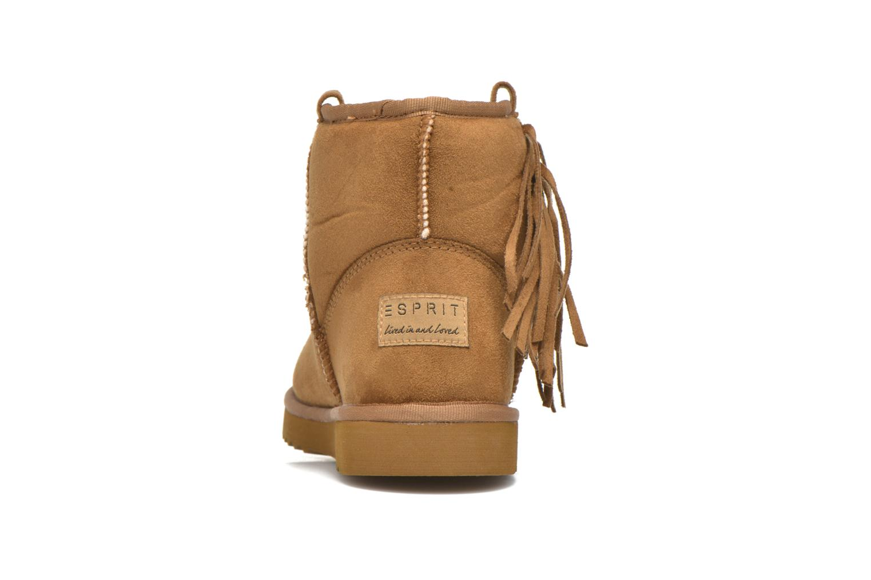 Bottines et boots Esprit Uma Fringes Marron vue droite