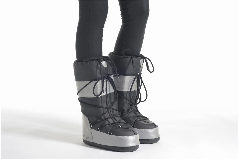 Chaussures de sport Moon Boot Reflex Noir vue bas / vue portée sac