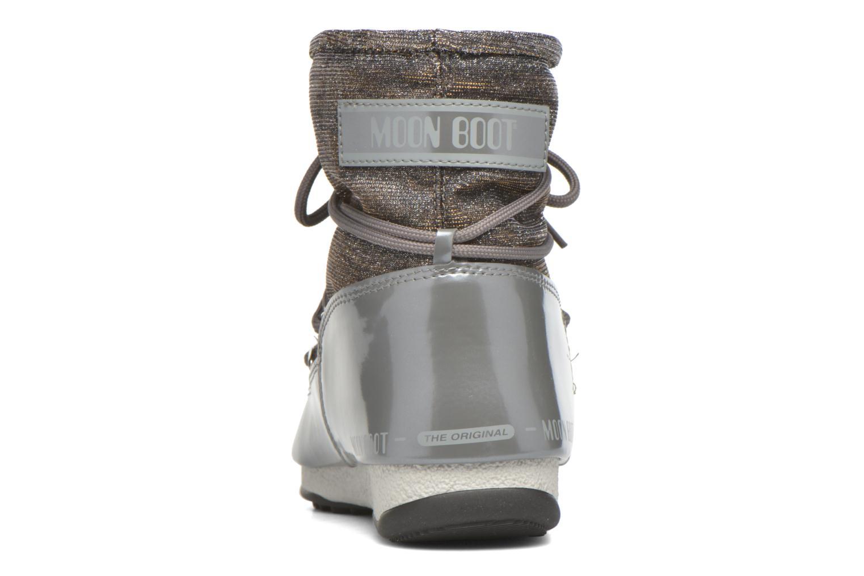 Zapatillas de deporte Moon Boot We Low Lurex Gris vista lateral derecha