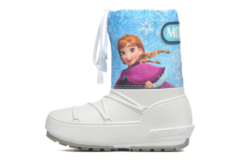 Bottes Moon Boot Moon Boot Pod Jr Frozen Blanc vue face