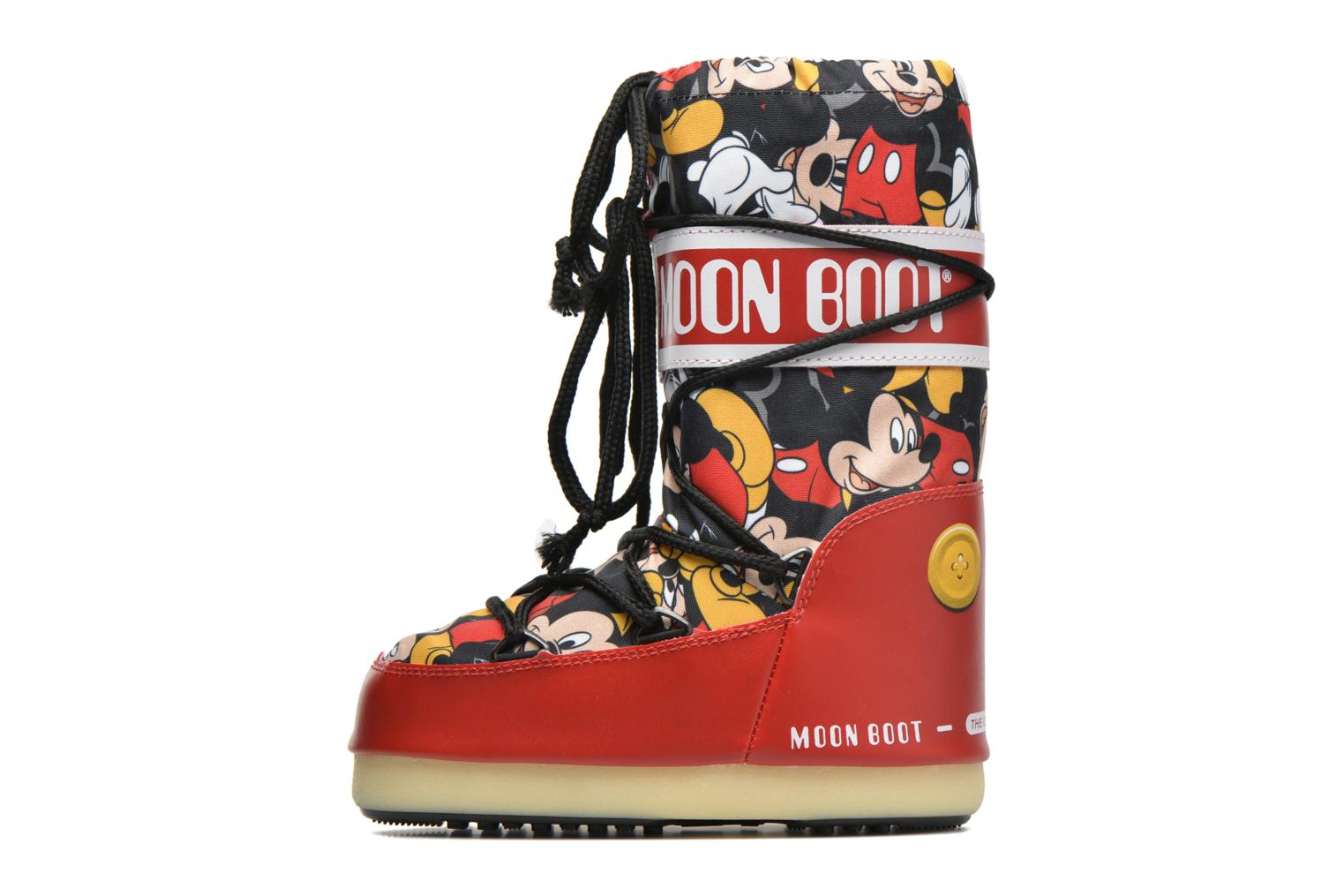 Bottes Moon Boot Moon Boot Pod Jr Mickey Rouge vue face