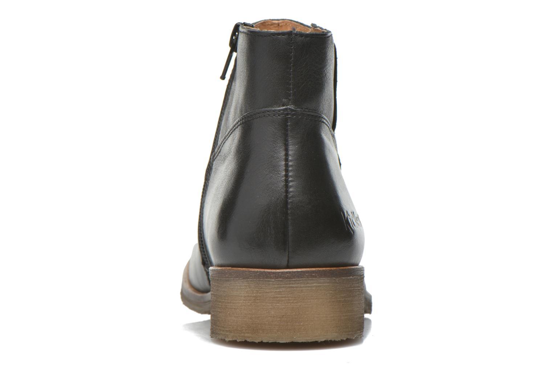 Bottines et boots Kickers Lowork Noir vue droite