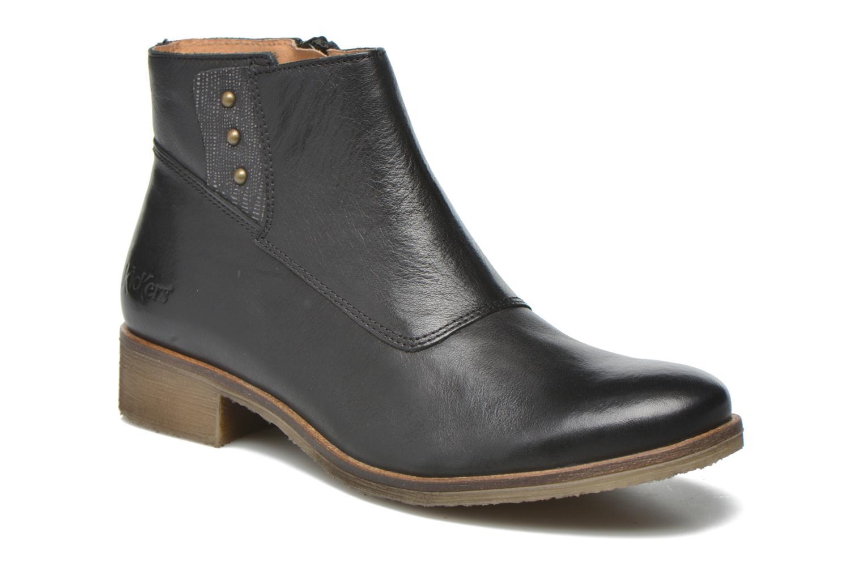 Bottines et boots Kickers Lowork Noir vue détail/paire