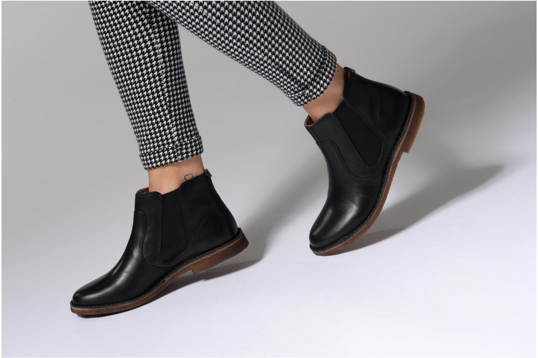 Bottines et boots Kickers Seeboots Noir vue bas / vue portée sac
