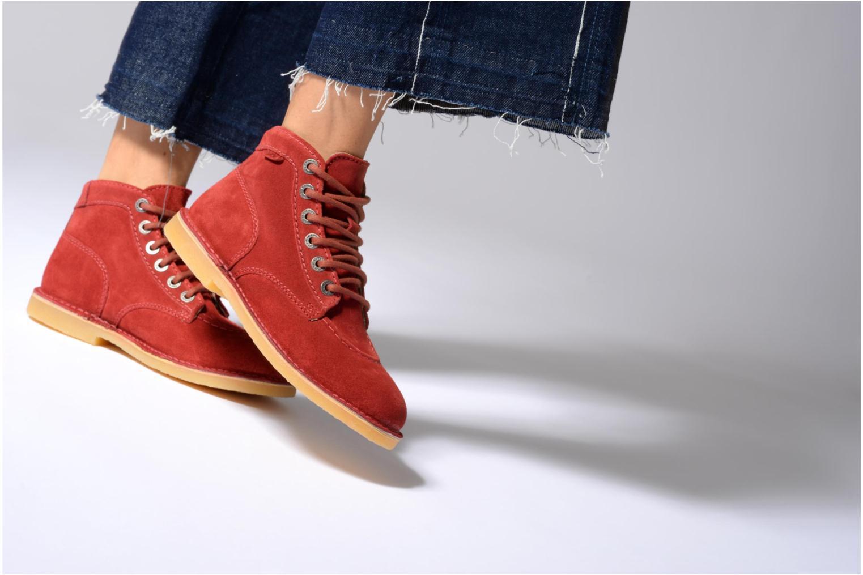 Chaussures à lacets Kickers Orilegend F Noir vue bas / vue portée sac
