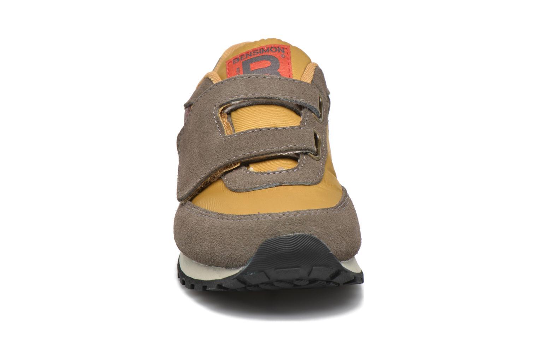 Baskets Bensimon C81 Running Jaune vue portées chaussures