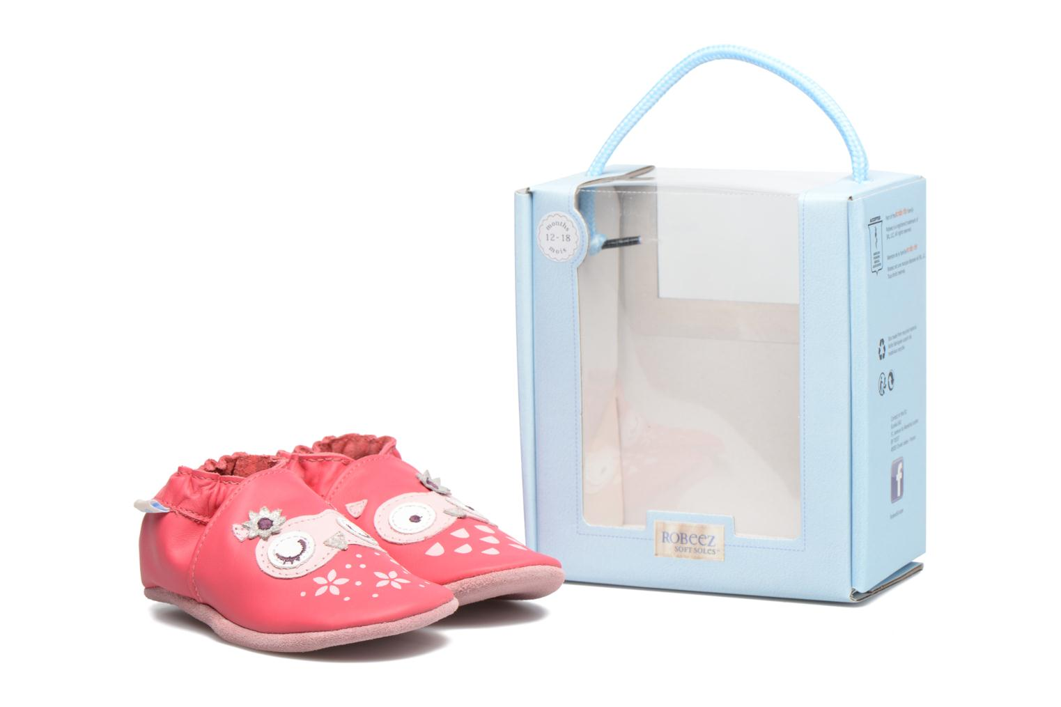 Chaussons Robeez Snowy Owl Rose vue 3/4
