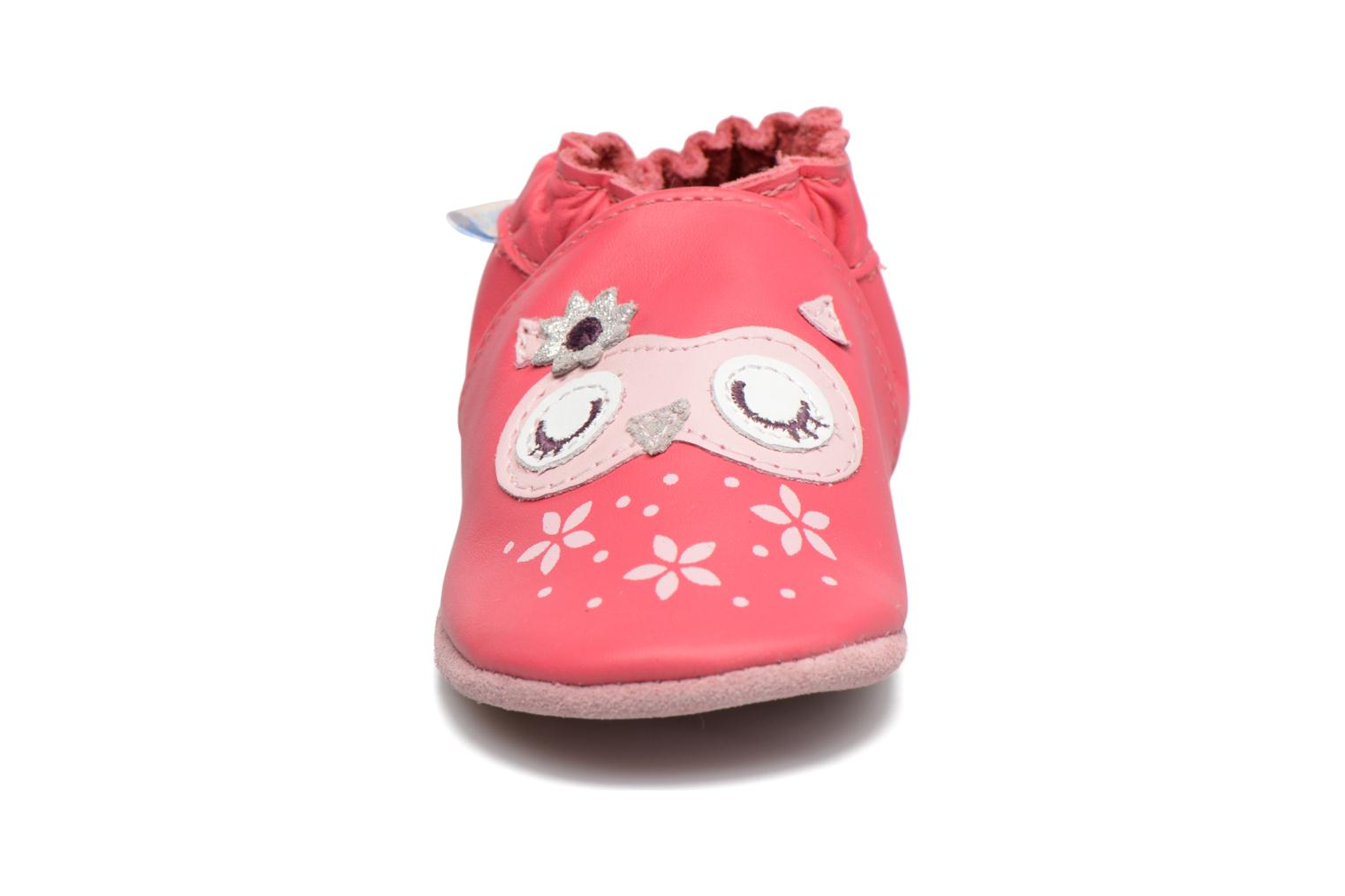 Chaussons Robeez Snowy Owl Rose vue portées chaussures