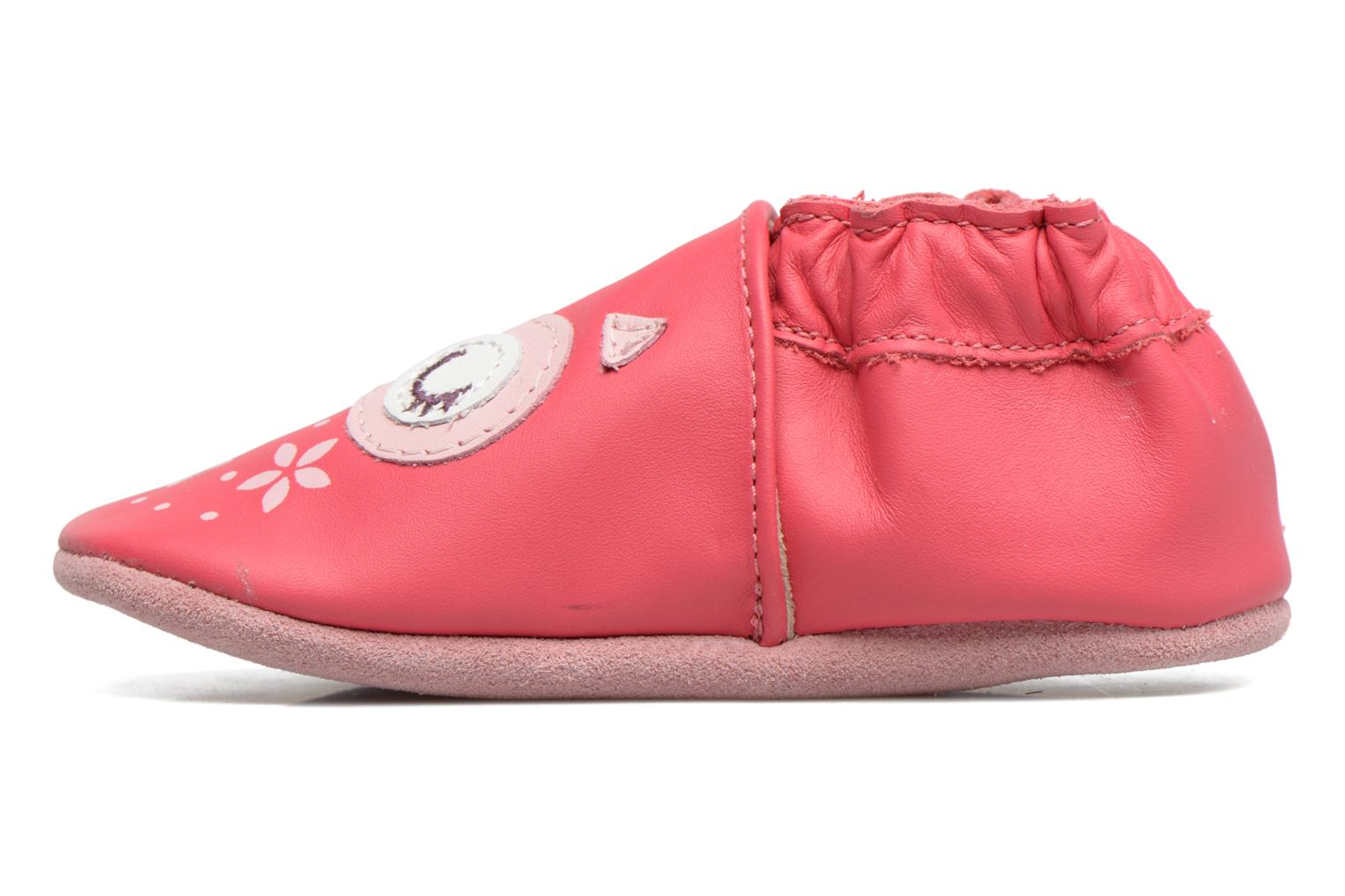 Chaussons Robeez Snowy Owl Rose vue face