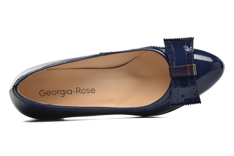Escarpins Georgia Rose London Bleu vue gauche