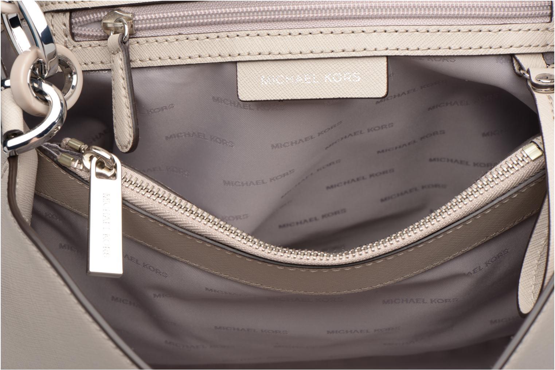 Handtaschen Michael Michael Kors PORTIA LG EW Shoulder grau ansicht von hinten
