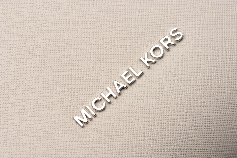 Handtaschen Michael Michael Kors PORTIA LG EW Shoulder grau ansicht von links