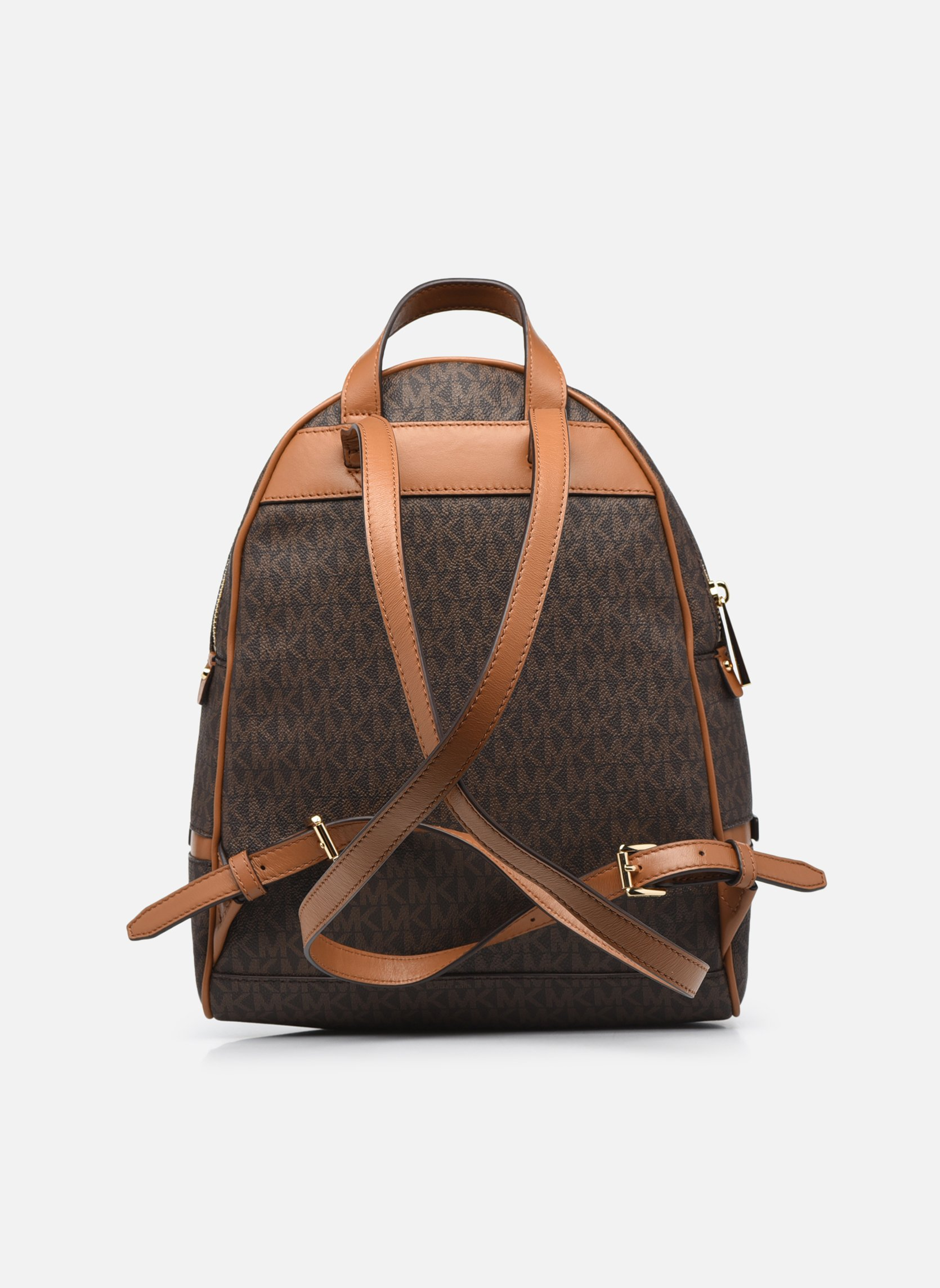 Mochilas Michael Michael Kors RHEA ZIP MD Backpack Marrón vista de frente