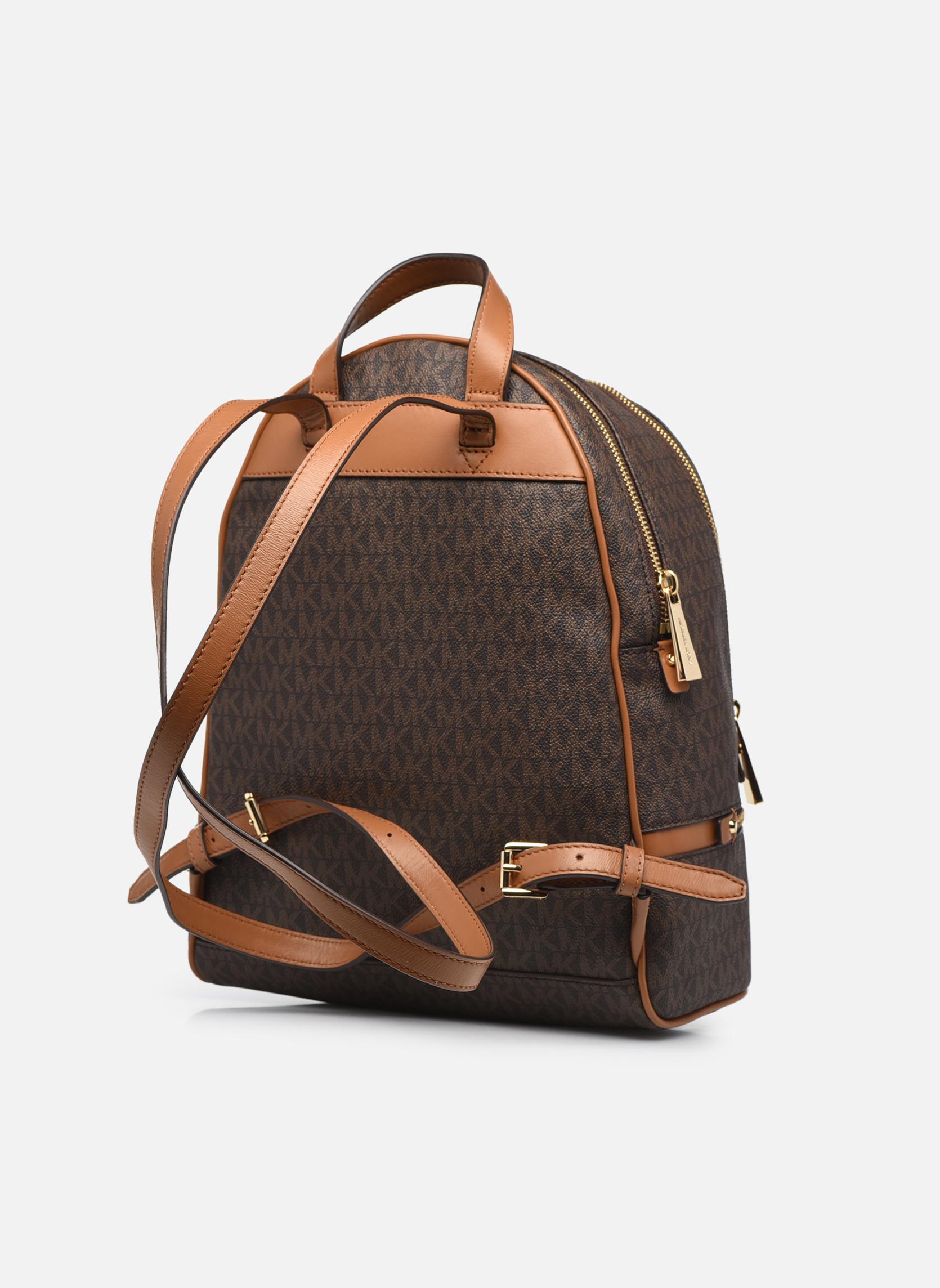 Sacs à dos Michael Michael Kors RHEA ZIP MD Backpack Marron vue droite