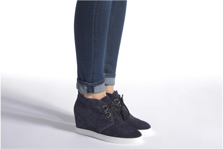 Chaussures à lacets HÖGL Christel Bleu vue bas / vue portée sac