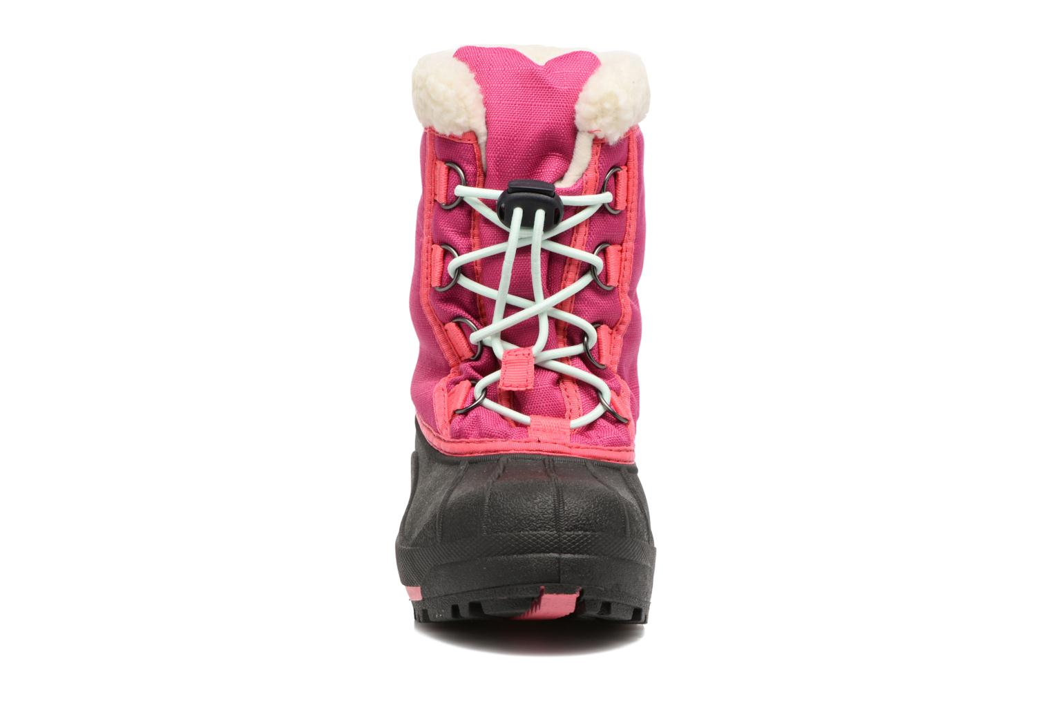 Bottes Sorel Youth Cumberland Rose vue portées chaussures