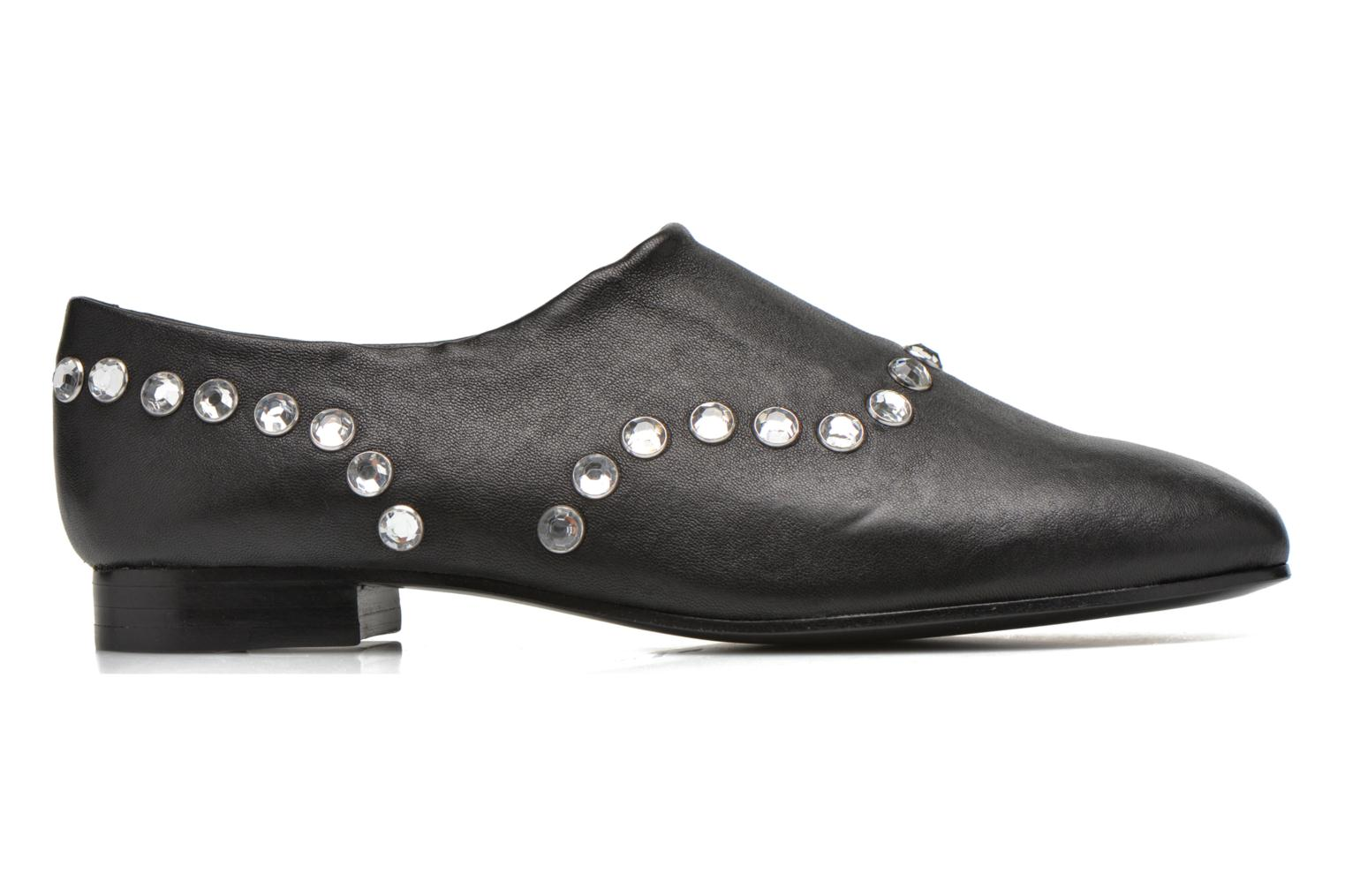 CHARLY Black Stretch Embellished leather