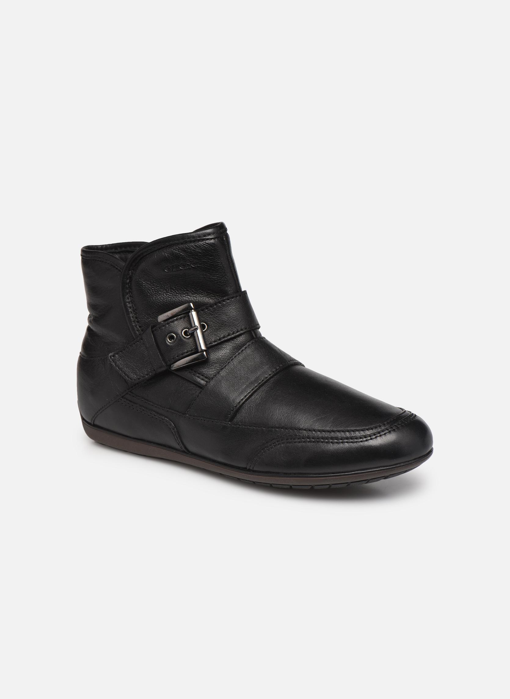 Bottines et boots Geox D NEW MOENA D D3460D Noir vue détail/paire