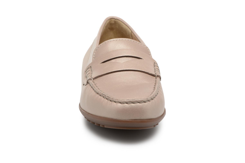 Mocassins Geox D ELIDIA A D642TA Beige vue portées chaussures