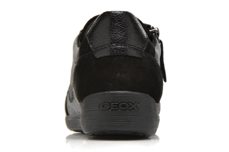 Baskets Geox D MYRIA A D6468A Noir vue droite