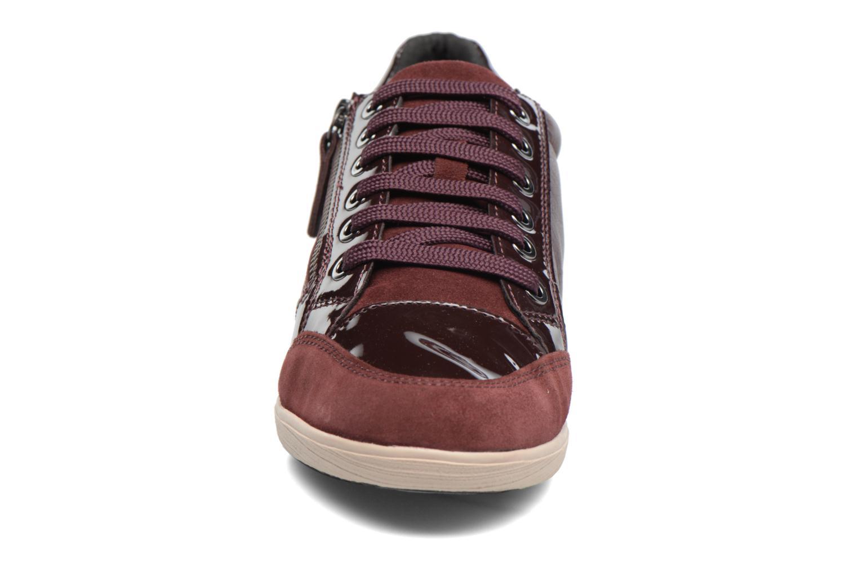 Baskets Geox D MYRIA A D6468A Bordeaux vue portées chaussures