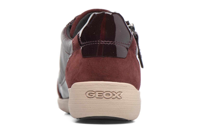 Baskets Geox D MYRIA A D6468A Bordeaux vue droite