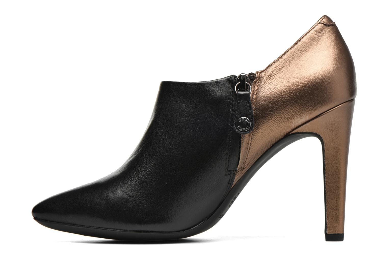 Boots en enkellaarsjes Geox D CAROLINE A D64W1A Zwart voorkant