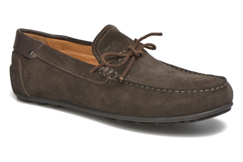 Loafers Geox U GIONA B U640XB Brun detaljerad bild på paret