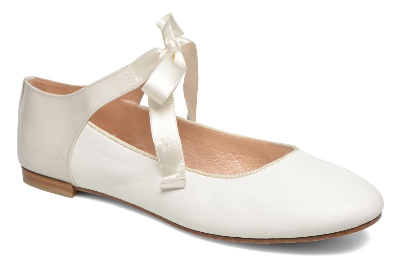 Marques Chaussure luxe femme Opéra national de Paris femme Eloge Agneau blanc+ vernis blanc