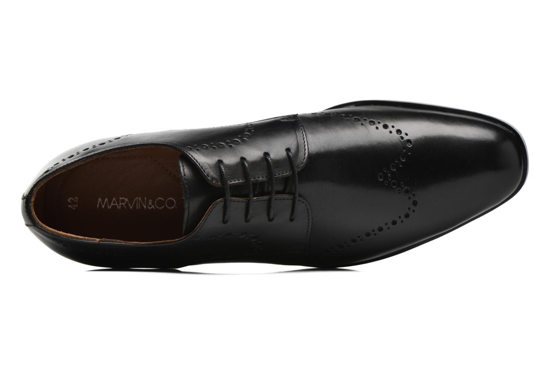Chaussures à lacets Marvin&Co Nottingham Noir vue gauche