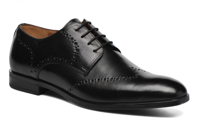 Chaussures à lacets Marvin&Co Nottingham Noir vue détail/paire